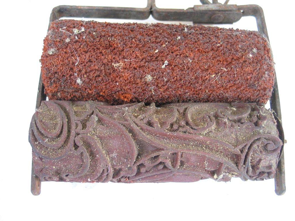 Alte Rolle Für Textildruck Mit Floralem Art Deco Motiv EBay